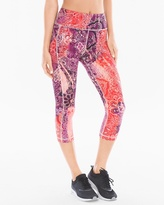 Soma Intimates Crop Leggings With Side Pocket Ombre Paisley Grenadine