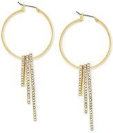 BCBGeneration Gold-Tone Pavé Bar Hoop Earrings