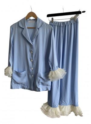Sleeper Blue Viscose Jumpsuits