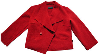 Non Signé / Unsigned Non Signe / Unsigned Kimono Red Wool Jackets