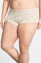 Hanky Panky Plus Size Women's Stretch Lace Boyshorts