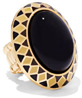 New York & Co. Faux-Onyx Cabochon Stretch Ring