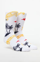 Vans OTW Palm White Crew Socks