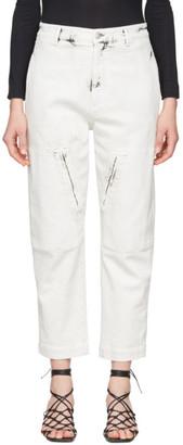 Stella McCartney White Acid Wash Galaxy Jeans