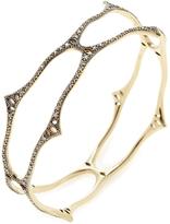 Mizuki Women's 14K Yellow Gold & 1.30 Total Ct. Diamond Wavy Bangle Bracelet