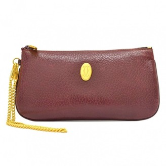 Cartier Burgundy Leather Clutch bags