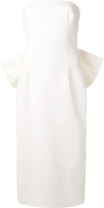 Rebecca Vallance Amore bow-detail midi dress