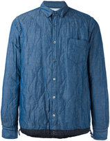 Sacai quilted shirt - men - Cotton/Linen/Flax - 3