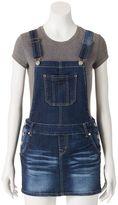Juniors' Wallflower Denim Overall Skirt