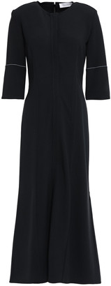 Victoria Beckham Flared Crepe Midi Dress