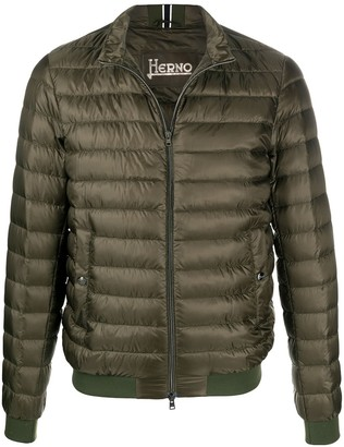 Herno Ultralight quilted bomber jacket