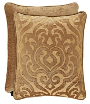 """J Queen New York J Queen Sicily Gold 20"""" Square Bedding"""