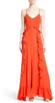 L'Agence Women's Ruffle Maxi Dress