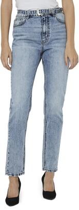 Vero Moda Joana High Waist Belted Jeans