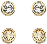 Swarovski Harley Goldtone Crystal Stud Earrings