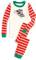 Hanna Andersson Disney ® Classic Holiday Print Organic Cotton Fitted Two-Piece Pajamas (Toddler, Little Kids & Big Kids)
