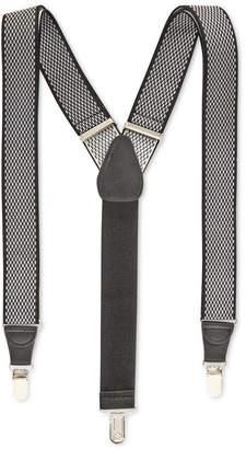 Club Room Men Diamond Print Suspenders