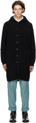Isabel Benenato Black Wool Hooded Coat
