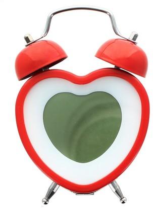 Overstock Heart Shaped Twin Bell Digital Alarm Clock, Red - Multi