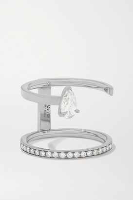 Repossi Serti Sur Vide 18-karat White Gold Diamond Ring