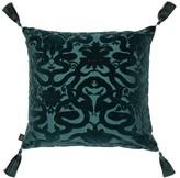 House Of Hackney - Anaconda Velvet-devore Cotton-blend Cushion - Dark Green