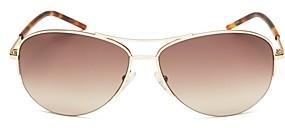 Marc Jacobs Women's Brow Bar Aviator Sunglasses, 59mm