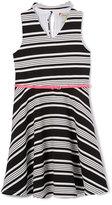 Speechless Black & White Stripe Sleeveless Dress - Girls