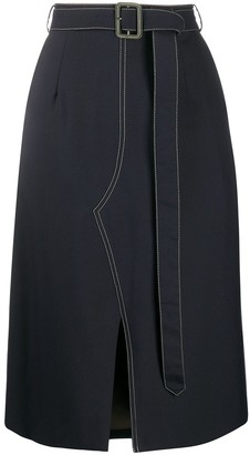 Marni belted A-line skirt