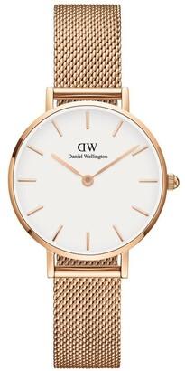 Daniel Wellington Petite Melrose 28mm RG White Dial Watch
