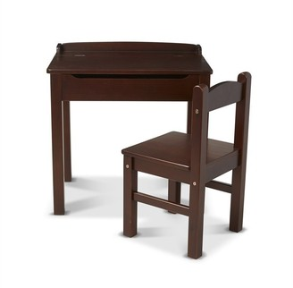 Melissa & Doug Wooden Lift-Top Desk and Chair Espresso
