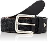 Rag & Bone Men's Leather & Wool Boater Belt-GREY