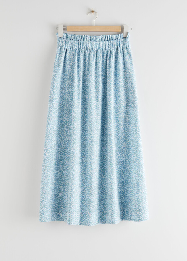 And other stories Frilled Midi Skirt