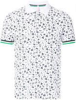Sun 68 graphic print polo shirt