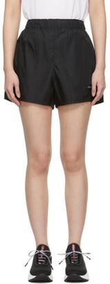 Prada Black Nylon Patch Sport Shorts
