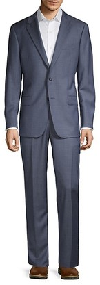 Hickey Freeman Milburn IIM Series Classic-Fit Pinstripe Wool Suit