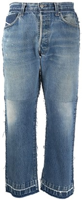 Diesel Red Tag Straight Leg Cropped Jeans