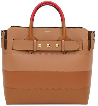 Burberry colour block panel tote bag