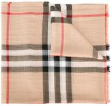 Burberry house check scarf - women - Wool/Silk - One Size
