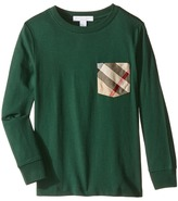 Burberry Checked Pocket Long Sleeve Top Boy's Long Sleeve Pullover