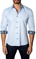 Jared Lang Pixelated Cotton Sportshirt
