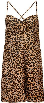 Mason by Michelle Mason Leopard Print Mini Dress