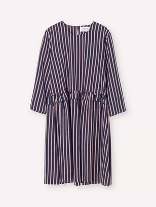 Libertine-Libertine Navy & Red Striped Curl Dress - S .