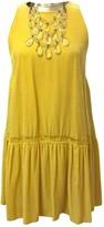 Ermanno Scervino Yellow Velvet Dress for Women