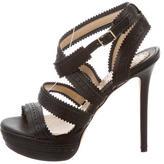 Blumarine Leather Perforated Sandals