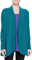 Eileen Fisher Merino Jersey Long Cardigan, Plus Size