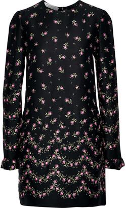 Philosophy di Lorenzo Serafini Ruffle-trimmed Floral-print Crepe Mini Dress