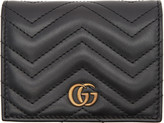 Gucci Black Small Gg Marmont Wallet
