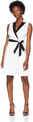 Calvin Klein Women's Petite Color Block Wrap Dress