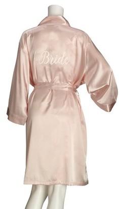 Lillian Rose Blush Satin Bride Robe (L/XL)