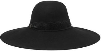 Eugenia Kim Bunny Lace-trimmed Wool-felt Hat